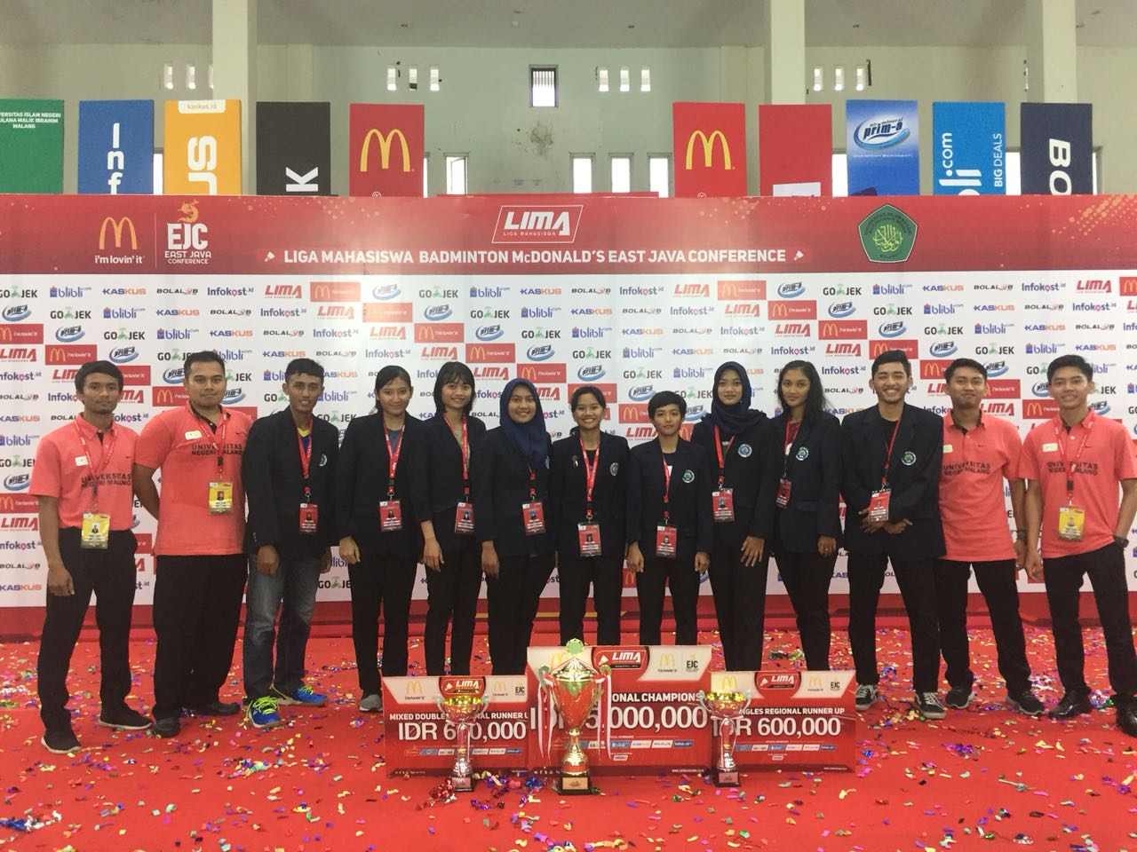 Mahasiswa PGSD Kampus 3 UM Sabet Juara Bulutangkis
