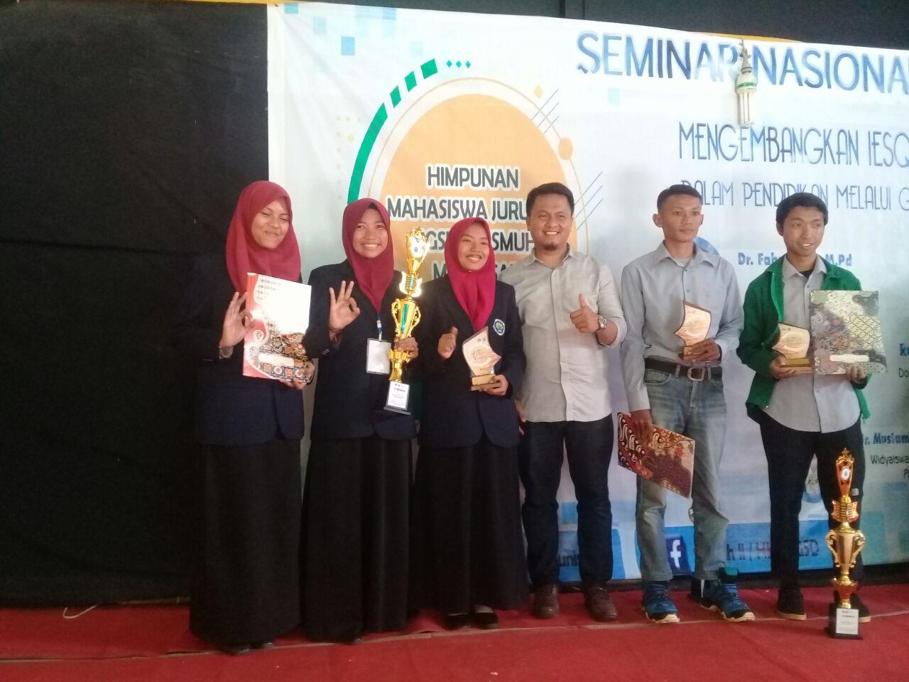 Mahasiswa PGSD Kampus 3 UM Juara 1 Lomba Media Tingkat Nasional