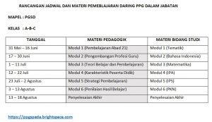 jadwal PGSD